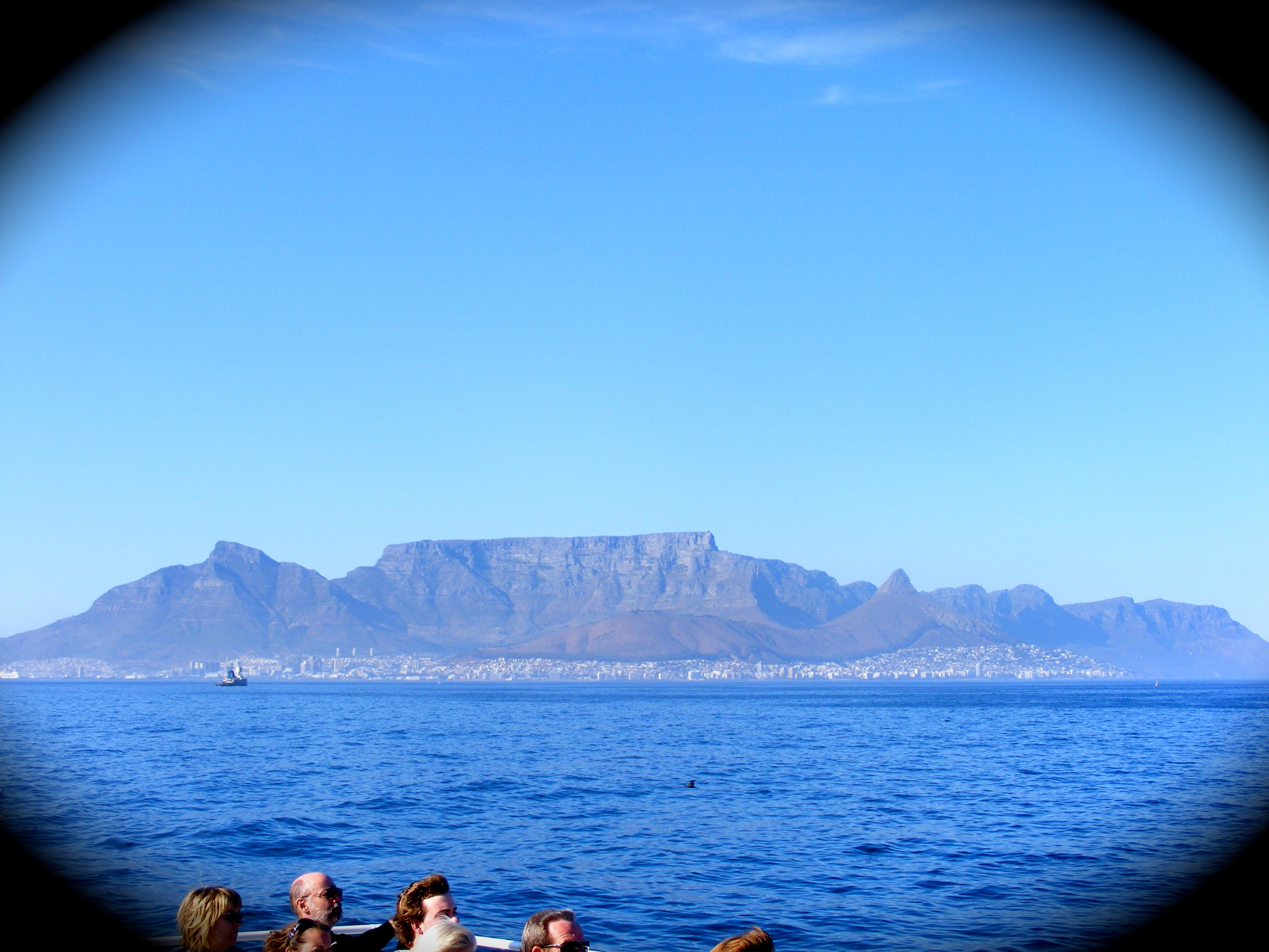 Table Mountain and Cape Town behind us