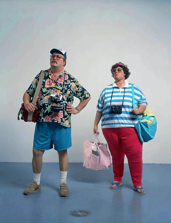 "Sometimes very deep... (""The Tourists"" sculpture by artist Duane Hanson)"