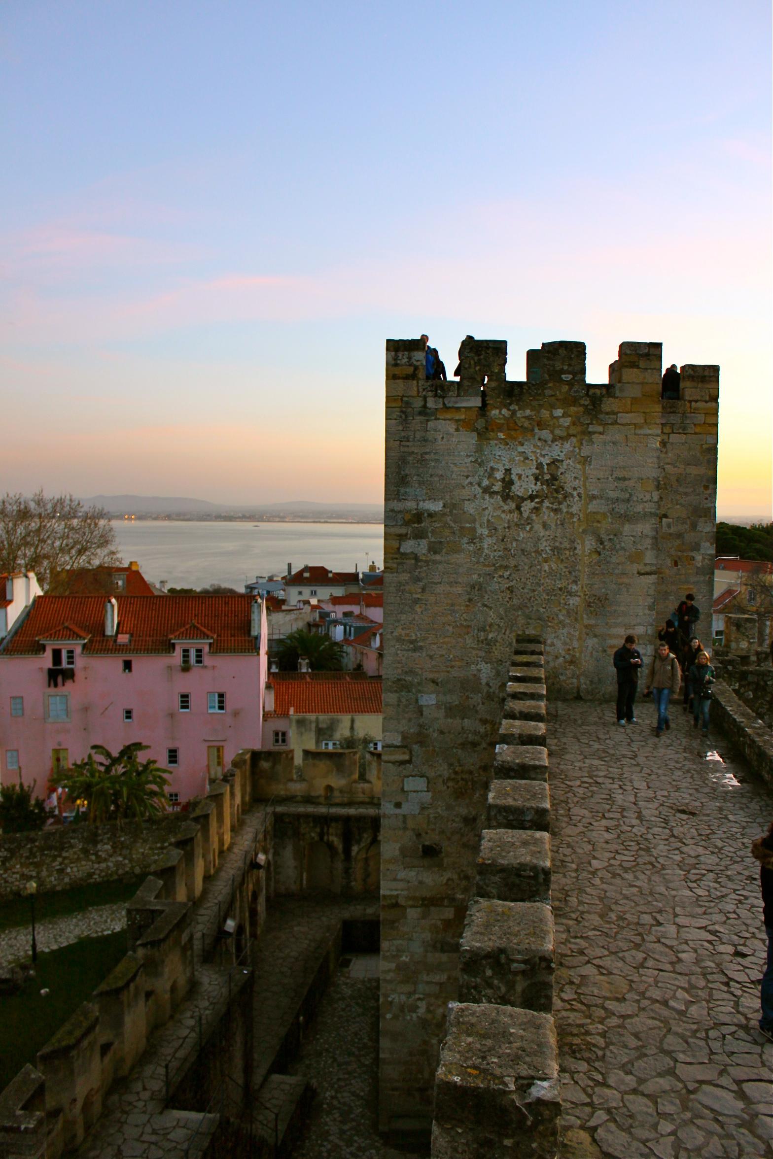 castle sao jorge lisbon portugal