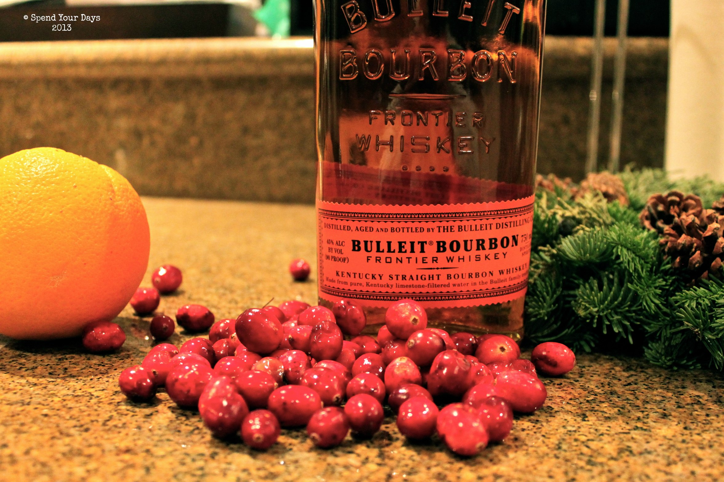 thanksgiving cranberry old-fashioned cocktail