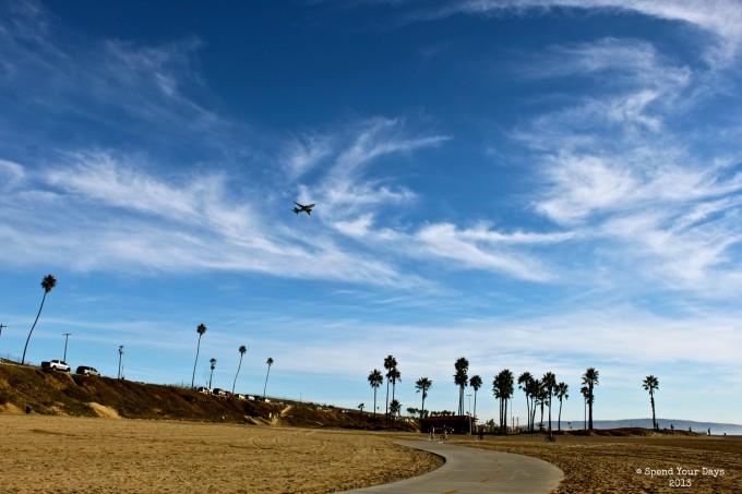 marvin braude bike path lax plane california
