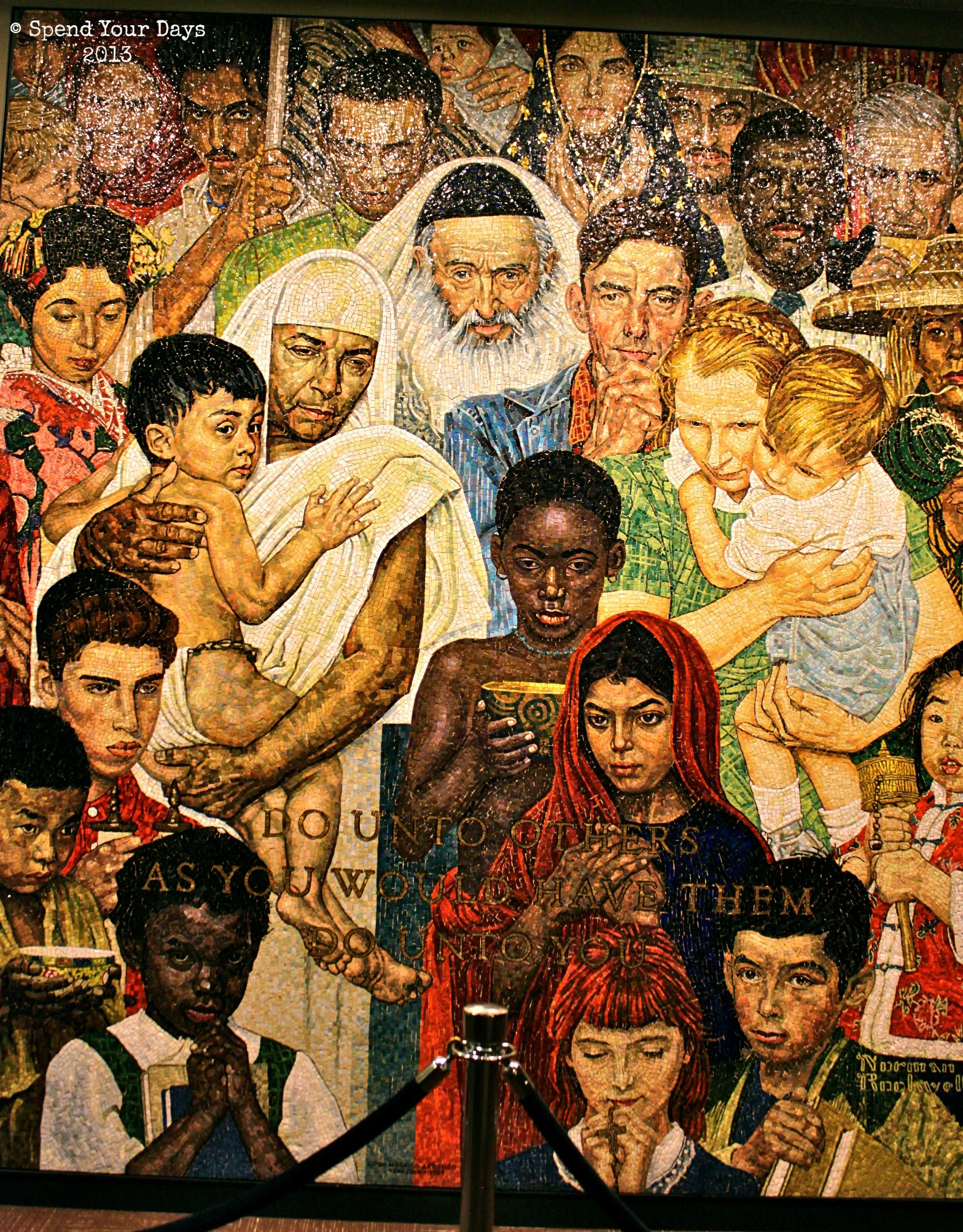 United Nations Norman Rockwell Mosaic New York