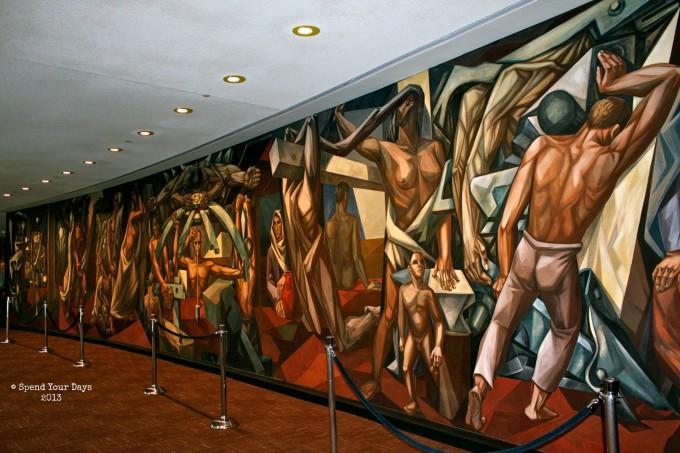 United Nations Headquarters mural New York
