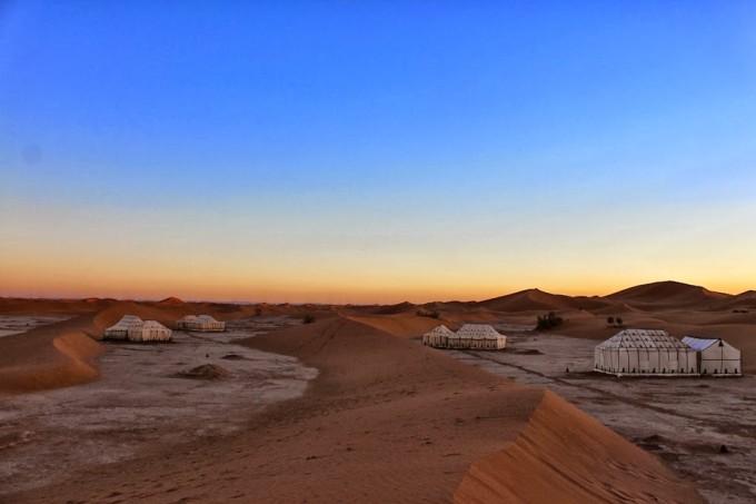 morocco sahara desert erg chigaga luxury camp