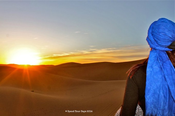 morocco sahara erg chigaga sunset