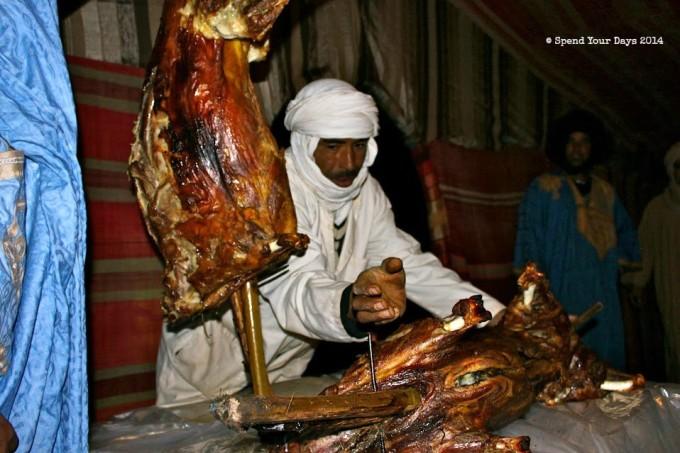 morocco sahara erg chigaga luxury desert camp lamb