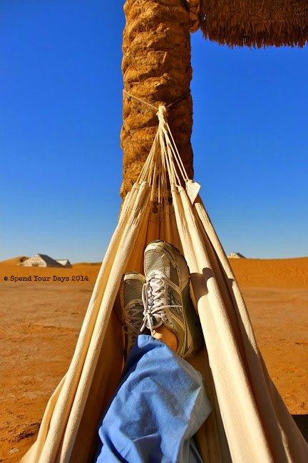 morocco sahara desert erg chigaga luxury camp hammock