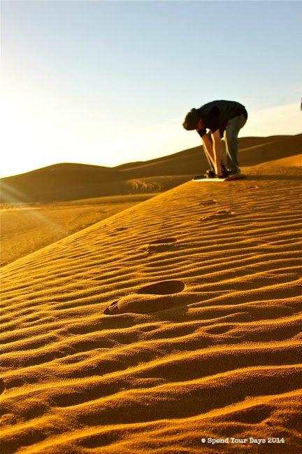 morocco erg chigaga sandboard dune sahara