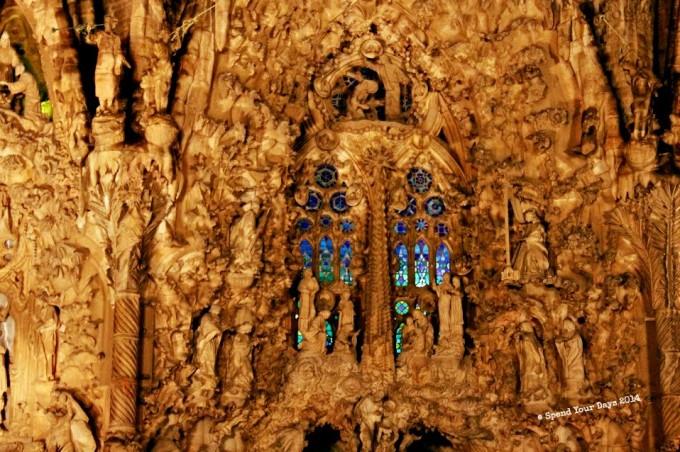 la sagrada familia barcelona spain facade gaudi