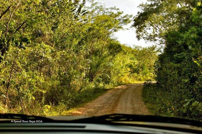 belize unpaved dirt road