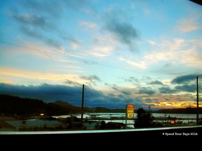 port mcneill vancouver island sunset