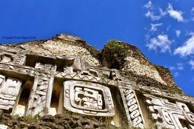 xunantunich belize frieze mayan ruin