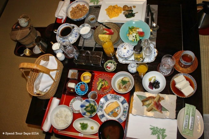 breakfast hiiragiya kyoto japan
