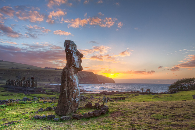easter island chile moai