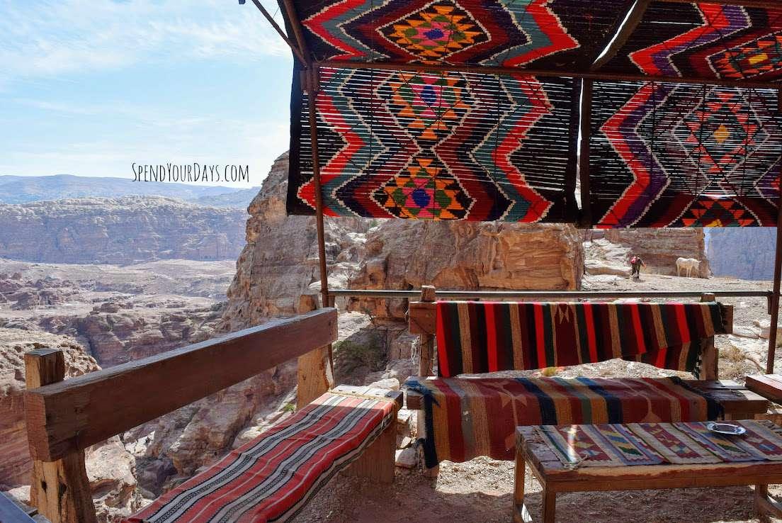 petra jordan cafe view